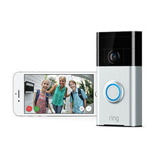 Load image into Gallery viewer, Ring Wi-Fi Enabled Video Doorbell in Satin Nickel, Works with Alexa