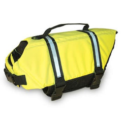 Paws Aboard Neon Yellow Dog Life Jacket (Fido Pet) - Hunter K9 Gear