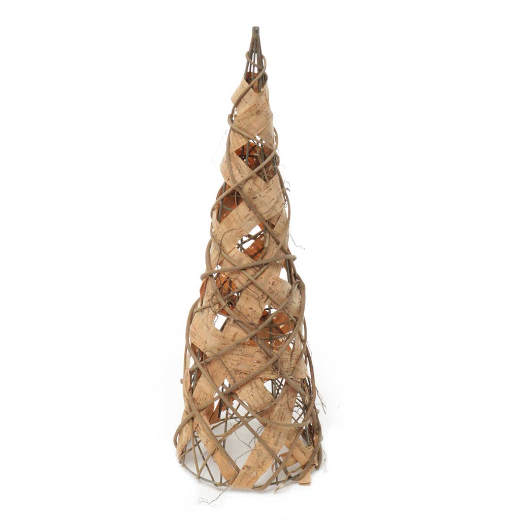 BARK AND TWIG CONE TREE- small