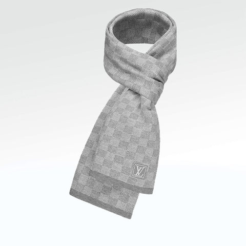 Louis Vuitton Petit Damier Scarf Grey