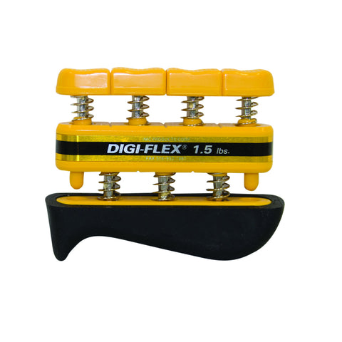 CanDo® Digi-Flex® hand exerciser - Yellow, x-light - Finger (1.5 lb) / hand (5.0 lb)