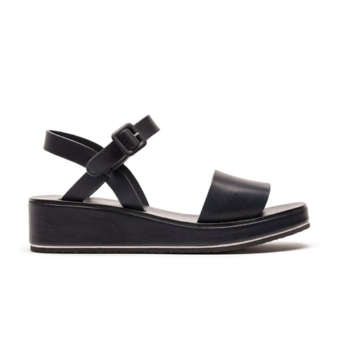 BARBARA navy blue | Leather Strap Sandals | Tracey Neuls