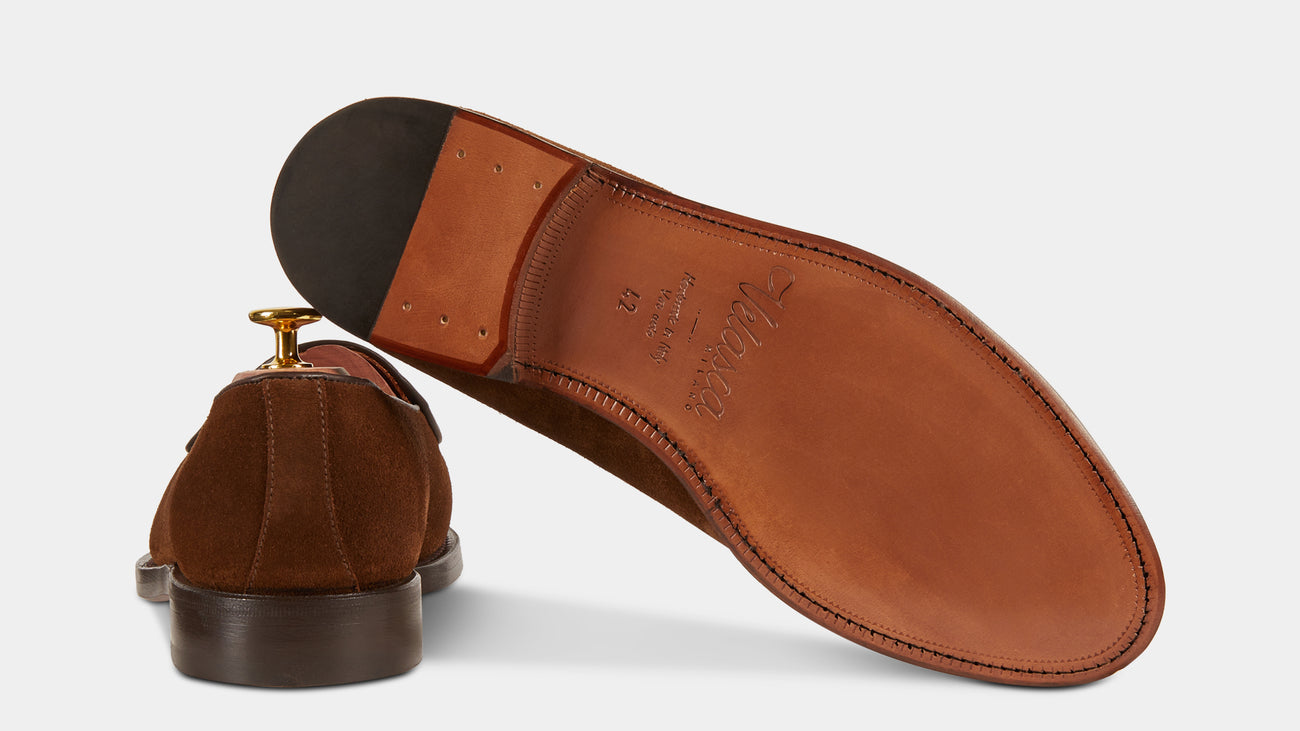 Velasca Ciappacan Tobacco brown Suede leather
