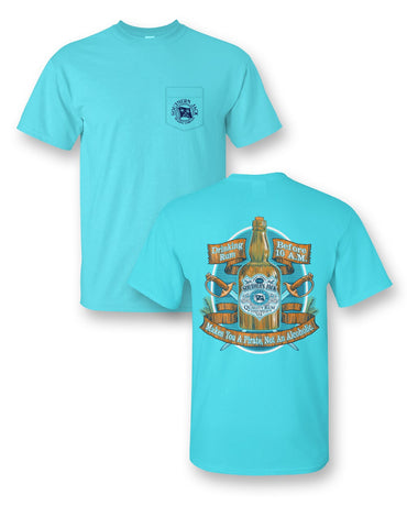 Louisiana Food Tour Comfort Colors Pocket Tee