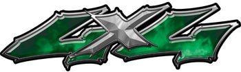 Wicked Series 4x4 Green Decals