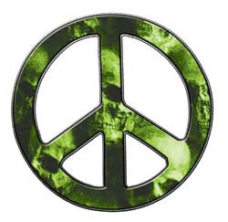Peace Decal in Skull Light Green