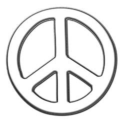 Peace Decal in White