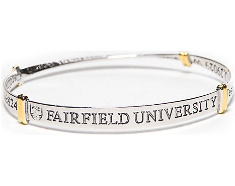 Fairfield University Sterling Silver Bangle