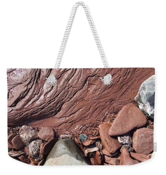Lake Superior Beach Rock - Weekender Tote Bag