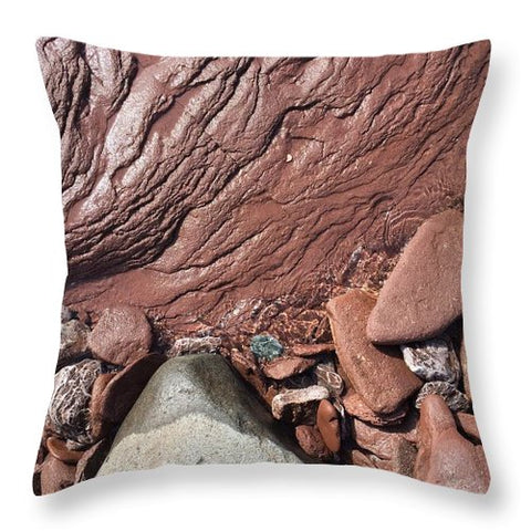 Lake Superior Beach Rock - Throw Pillow