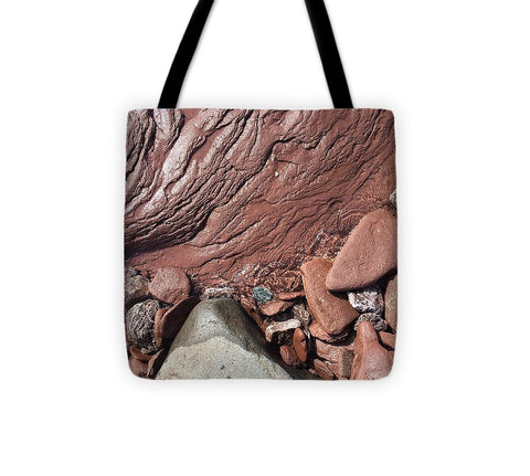 Lake Superior Beach Rock - Tote Bag