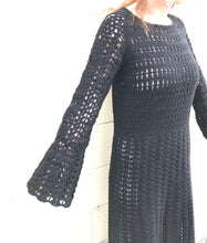 Pari Desai Savona Crochet Dress in Black