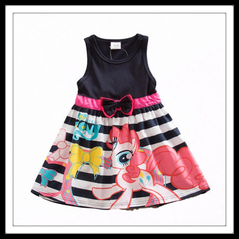Image of Little Girls Butterfly Bow MLP Dress (3-8 years) - Mini Chic Outlet