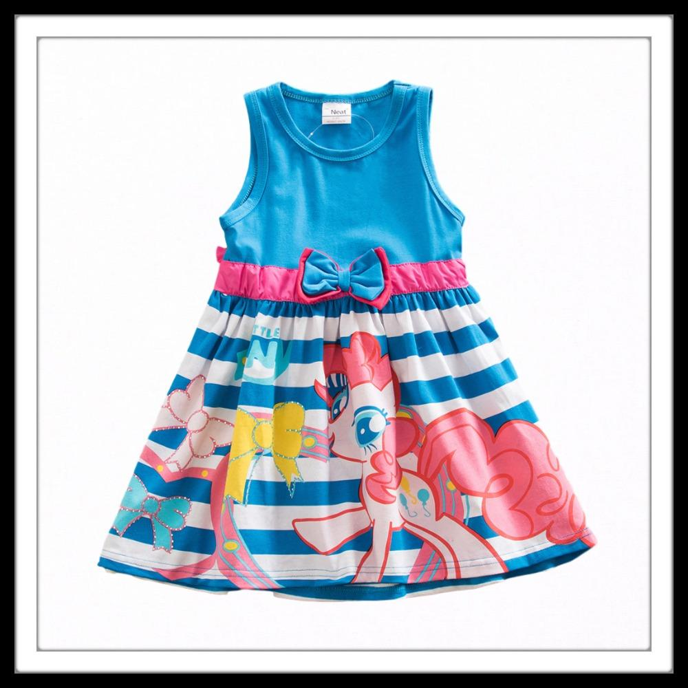 Little Girls Butterfly Bow MLP Dress (3-8 years) - Mini Chic Outlet