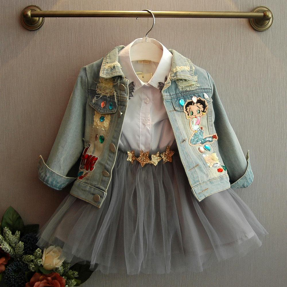 Beautiful Girls Betty Boop Denim Jacket (18 Months - 6 Years) - Mini Chic Outlet