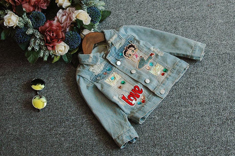 Image of Beautiful Girls Betty Boop Denim Jacket (18 Months - 6 Years) - Mini Chic Outlet