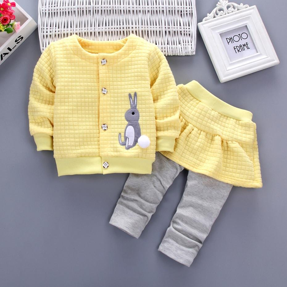 Little Girls Cute Bunny 2 Piece Outfit - Mini Chic Outlet