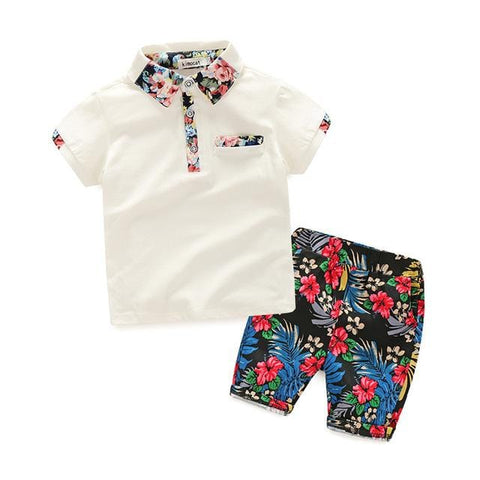 Image of Boys Short-Sleeved Tshirt And Shorts Sets (2-8 years) - Mini Chic Outlet