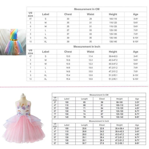 Image of Girls Dress - Princess Dress With Rainbow Unicorn - Mini Chic Outlet