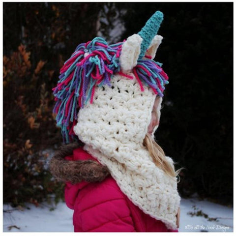Unicorn Hand Knitted Headscarf (3-12 years) - Mini Chic Outlet