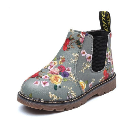 Image of Dashing Floral Chelsea Style Boots For Girls  (toddler to big kids sizes) - Mini Chic Outlet