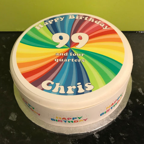 100th Birthday Edible Icing Cake Topper
