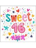 16th Birthday Edible Icing Cake Topper 02