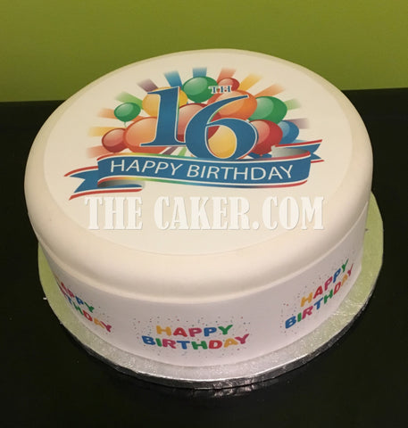 16th Birthday Edible Icing Cake Topper 03