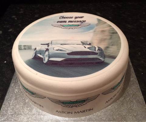 Aston Martin Car Edible Icing Cake Topper