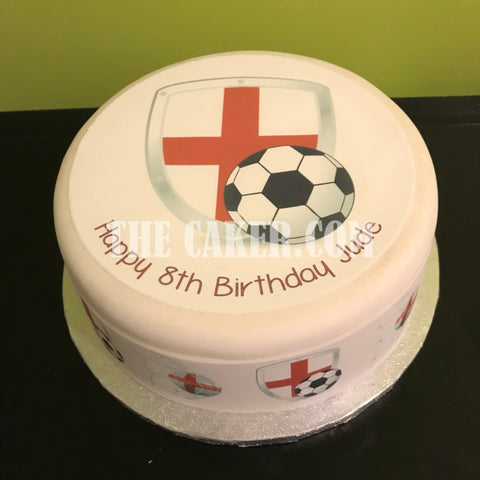 England FC Edible Icing Cake Topper 06