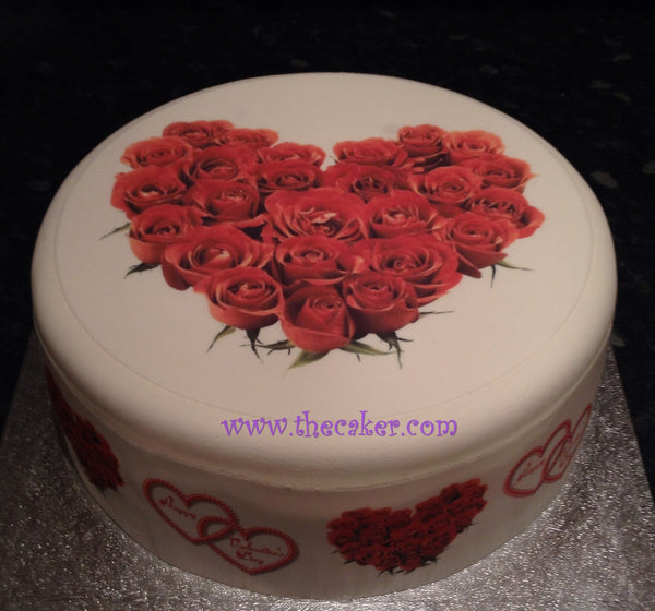 Valentine's Day Edible Icing Cake Topper 04