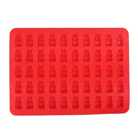 Image of 50 Gummy Bear Silicone Tray with Dropper - QuantumBitz