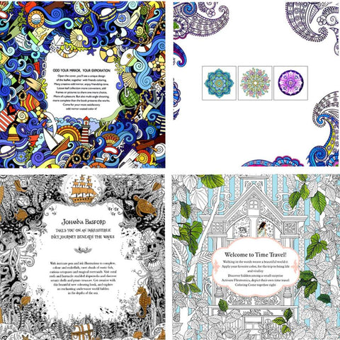 Image of Four Coloring Books for Adults