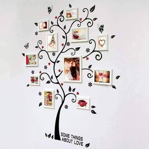 Image of Chic Family Tree Wall Vinyl Sticker - QuantumBitz
