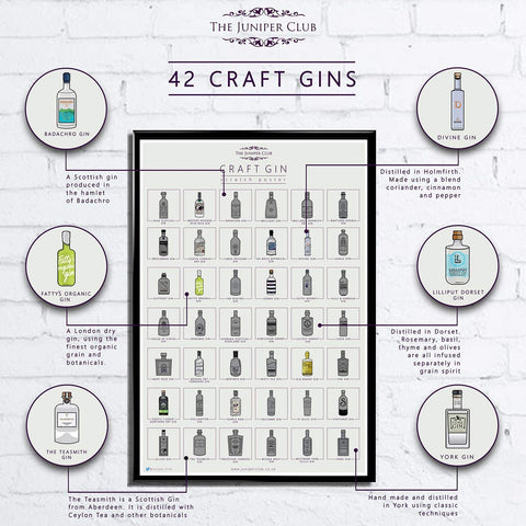 Craft Gin Scratch Poster Collection