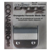 Canine FX PGRRB30R Replacement Clipper Blade Size 30 Cryogenic/Ceramic fits ConairPRO / Oster / Andis / Wahl / Laube