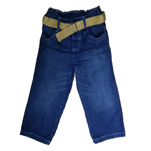 Boys Denim Jeans Adjustable Waist 1-7 yrs Blue Belt Baby Toddler