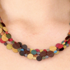 Dos Riberas: Four Loops Fabric Necklace - Cool