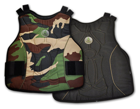 Buddha Chest Protector black/camo