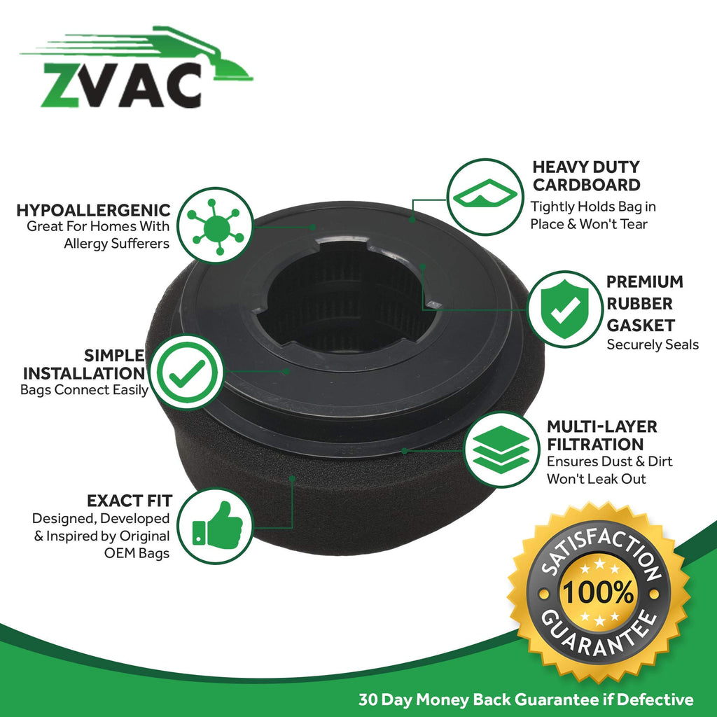 ZVac 2 Bissell 9/10/ 12 Inner Filter & Outer Filter Generic Part Replaces Part Numbers 32064, 2037913, 2032587, 203-2587