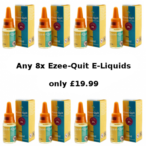 Ezee Quit 8 x 10ml Bottle Eliquid Deal