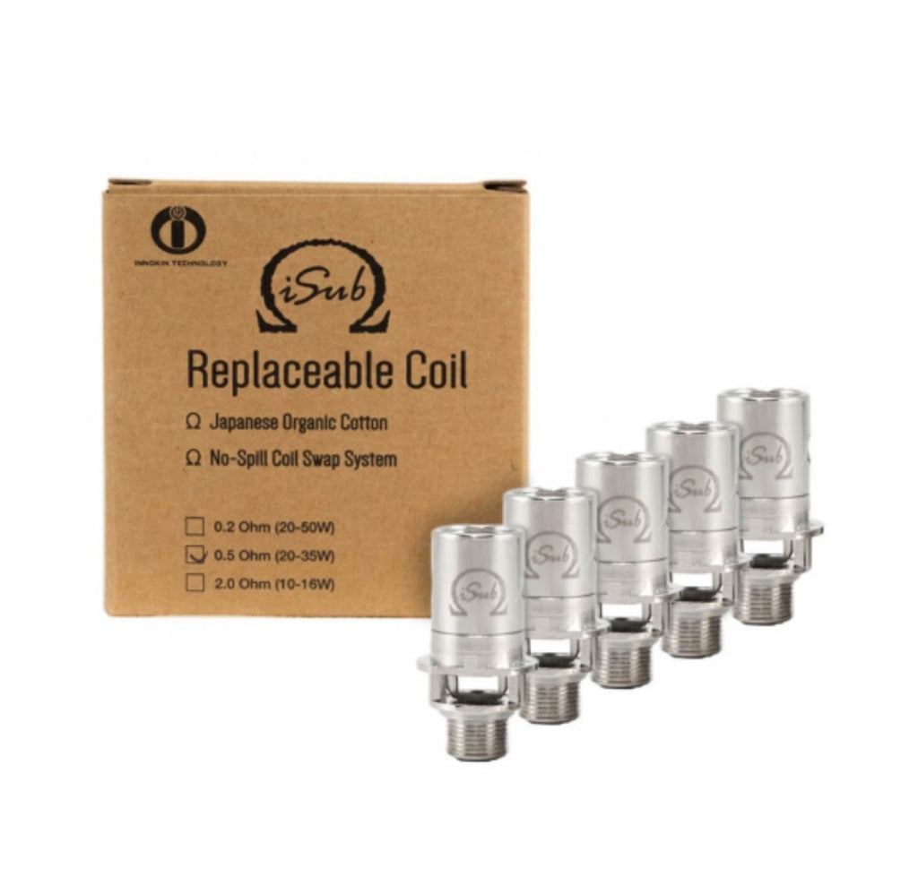 5 x Innokin iSub Replacement Coils 1.2 ohm