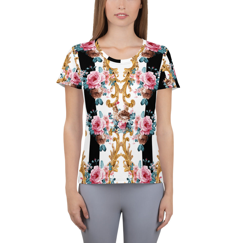 Rose Baroque | Women's Athletic T-shirt