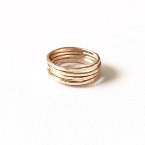 Edina Kiss 20K Gold Filled Stackable Rings (Set of 5)