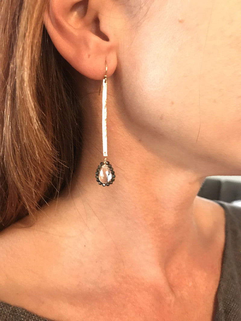 Crystal Spinel Drop Earrings