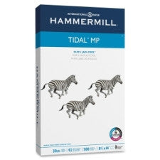 "Hammermill Tidal MP Paper - Legal - 8.5"" (215.9 mm) x 14"" (355.6 mm) - 20 lb Basis Weight - Recycled - 10% Recycled Content - 92 Brightness - 500 / Ream - White"