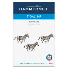 "Hammermill Tidal MP Paper - Ledger/Tabloid - 11"" (279.4 mm) x 17"" (431.8 mm) - 20 lb Basis Weight - Recycled - 10% Recycled Content - 92 Brightness - 500 / Ream - White"