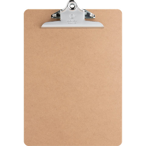 "Business Source Clipboard - 9"" x 12.50"" - Hardboard - Brown - Each"