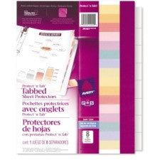 "Avery Protect 'n Tab Top Loading Sheet Protector - For Letter 8.5"" x 11"" Sheet - Clear - Polypropylene - 8 / Set"