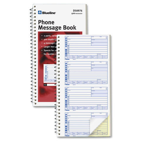 Blueline 400 Message Book - Each